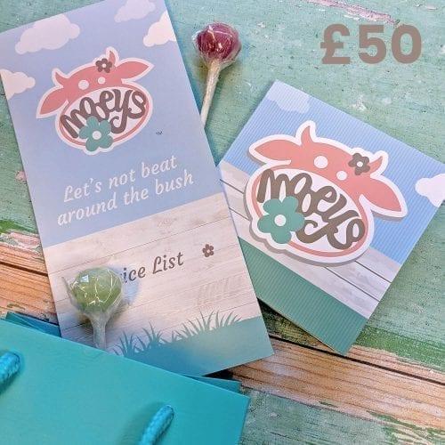 Mooeys £50 Gift Card
